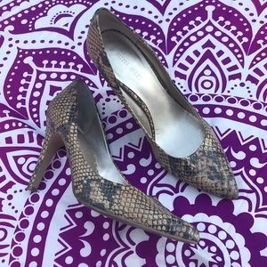 Snakeskin Nine West Heels Size 7.5
